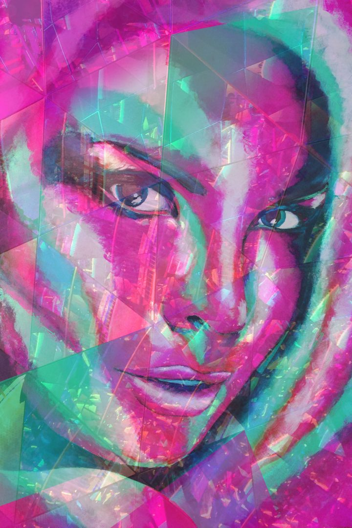 "Acryl Portrait ""Nativ Beauty"""